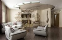 Дизайн фото потолков в гостиной комнате — варианты оформления
