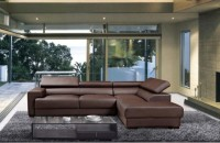 Коричневый диван в интерьере гостиной (51 фото)