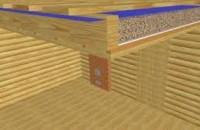 Методы укладки потолков в бане