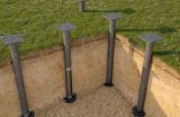 Свайные фундаменты в строительстве газобетонных домов