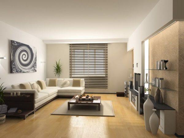 современный стиль модерн в гостиной комнате