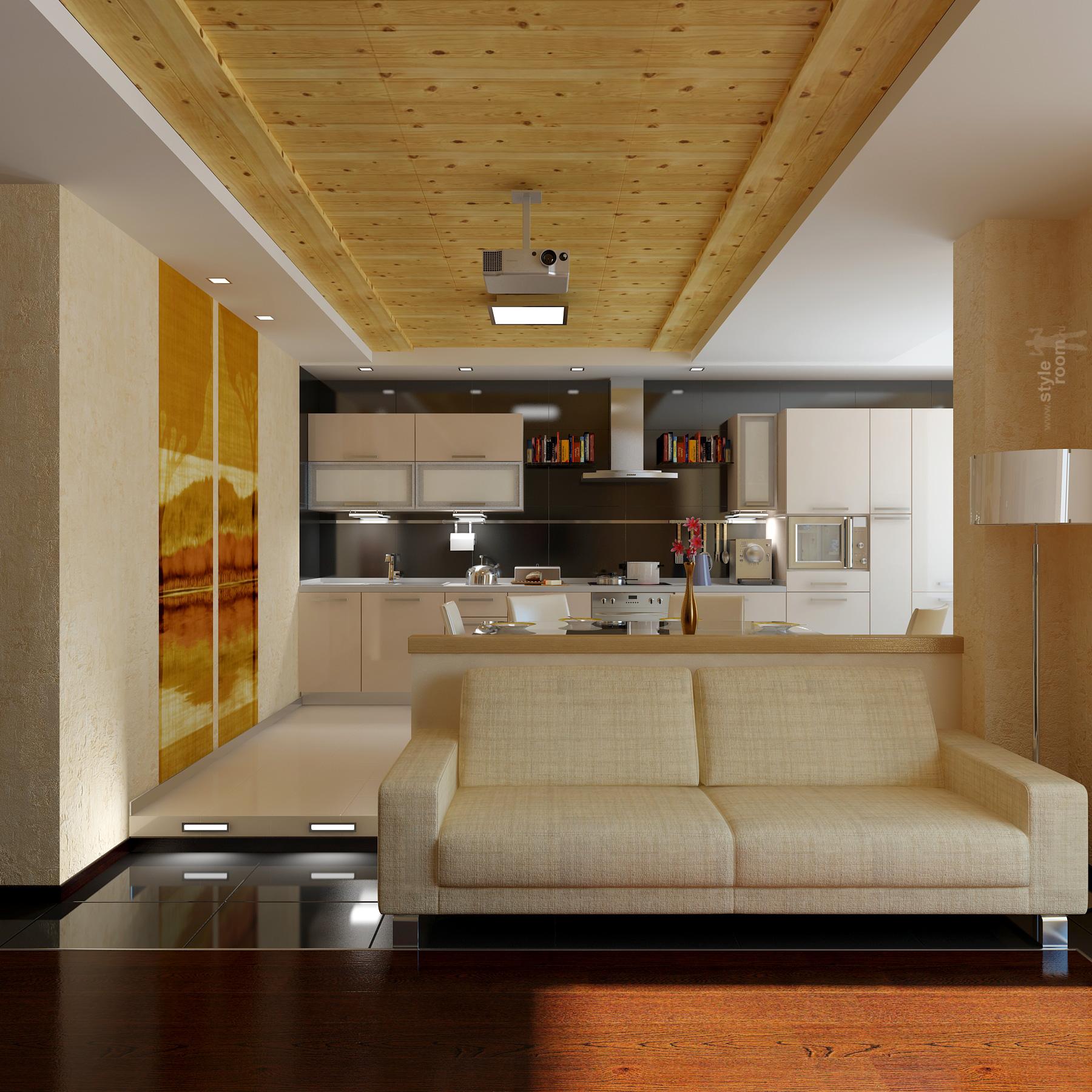природный материал на потолок