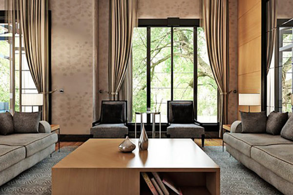 красивый дизайн современной гостиной комнаты