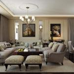 серый мебельный гарнитур в гостиной
