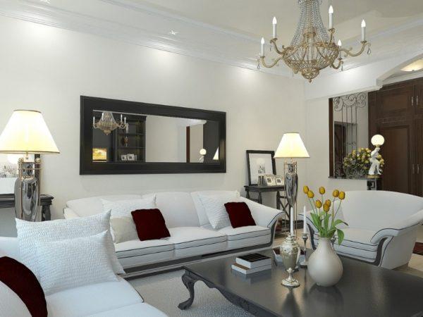 грамотное освещение в интерьере гостиной