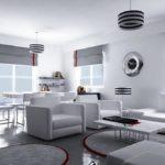 серый с красным в дизайне