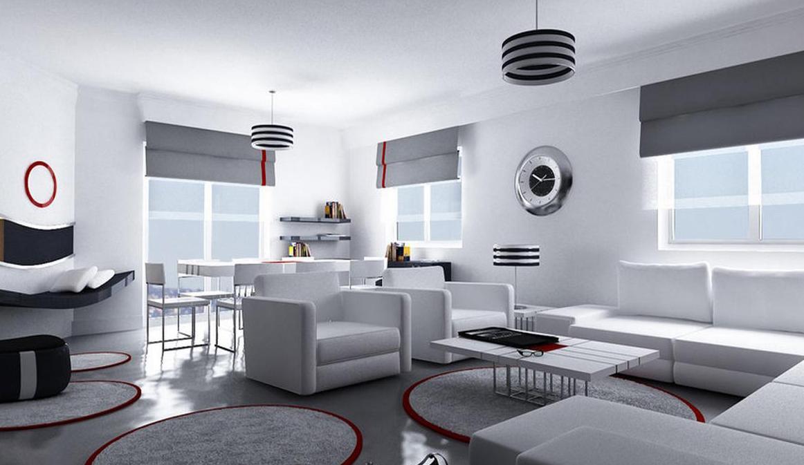 Гостиная в стиле хай тек — примеры оформления на фото