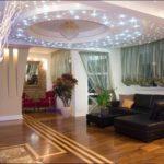 освещение потолка гостиной комнаты