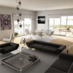 функциональный гарнитур мебели для гостиной