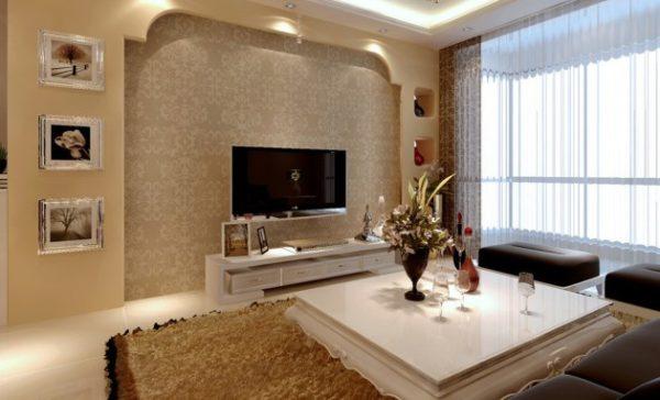 красивый оттенок пастельного в гостиной