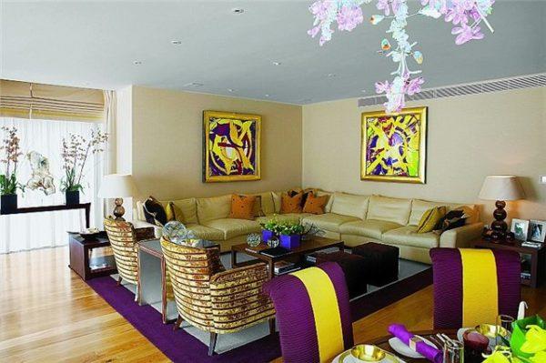 фиолетовый с желтым оттенки
