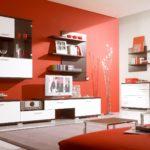 красные оттенки в интерьере гостиной