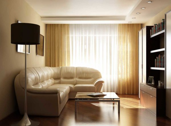 массивный кожаный угловой диван в гостиную