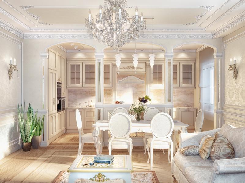 Дизайн гостиной 20 кв м совмещенной с кухней фото