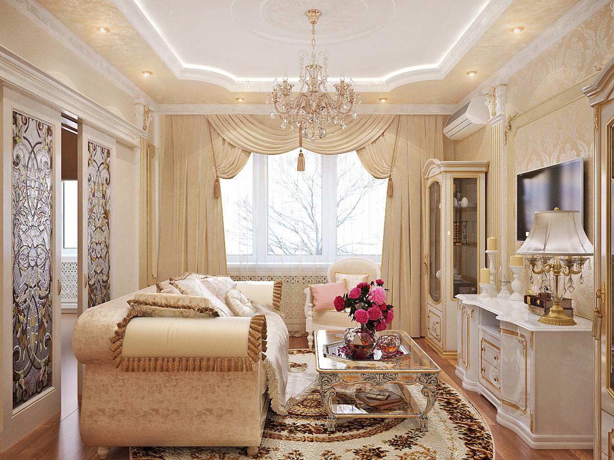 Интерьер маленькой квартиры в классическом стиле фото