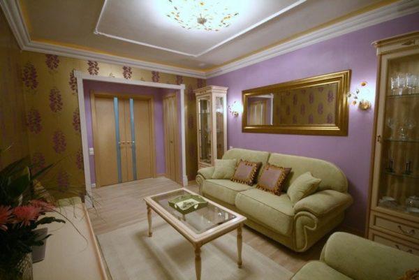 яркий дизайн гостиной комнаты