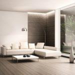светлая мебель и минимализм в интерьере гостиной
