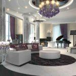 яркая модульная мебель в интерьере гостиной