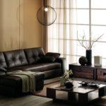 угловой коричневый диван