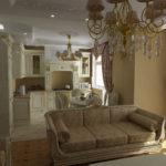 оформление кухни гостиной в классическом стиле