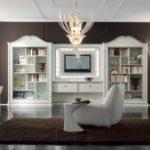 модерн в дизайне гостиной дополненный светлым мебельным гарнитуром