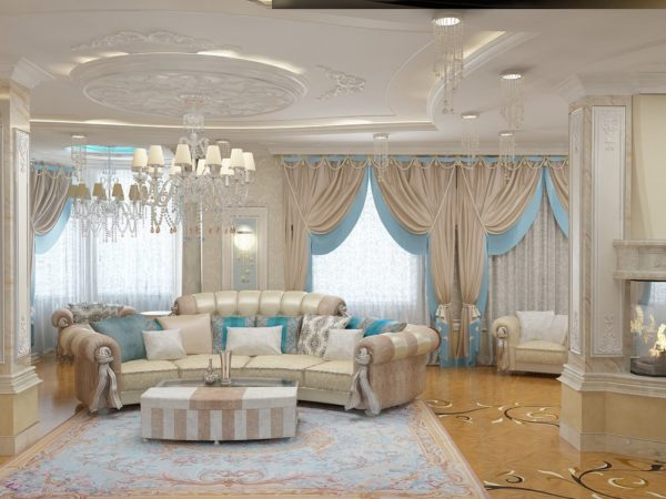 элегантные шторы в гостиную
