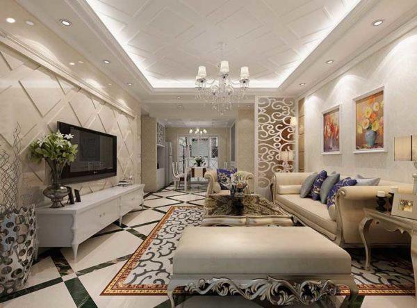 классический интерьер в гостиной комнате