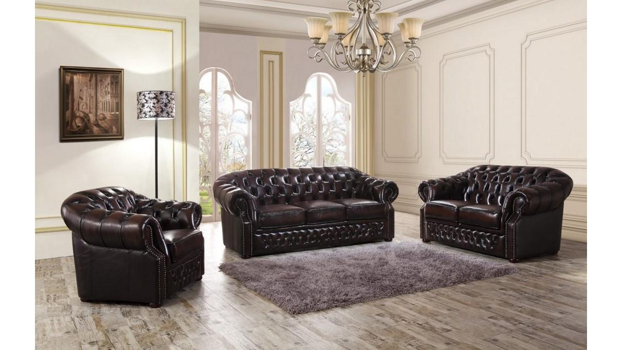 мягкая мебель в гостиную из натуральной кожи