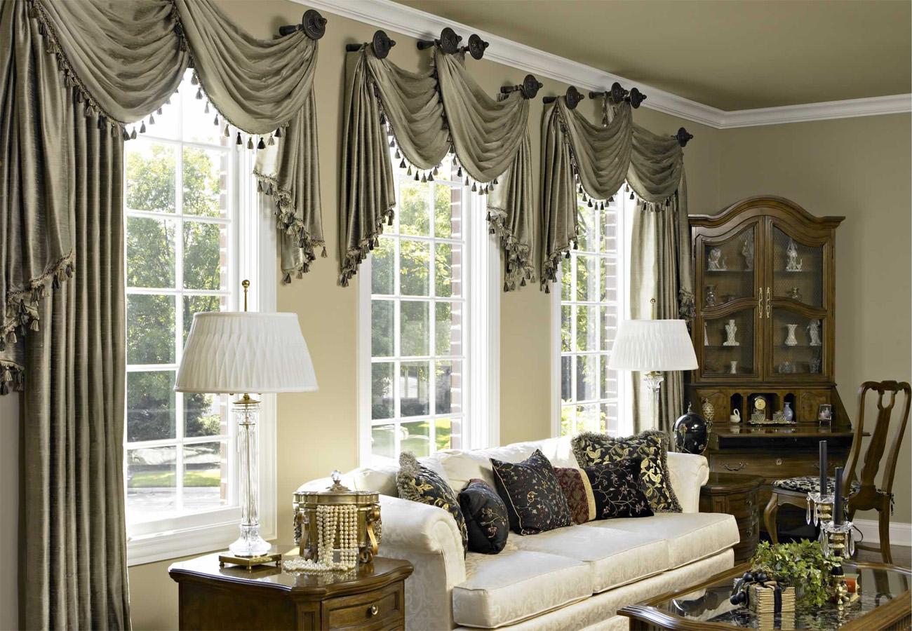 Дизайн штор для гостиной фото в стиле хай тек