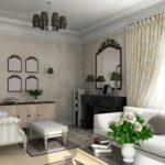 светлая мебель в интерьере небольшой гостиной