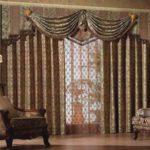 темные шторы в интерьере гостиной