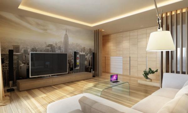 Идеальная гостиная с множеством света