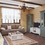 дизайн в стиле модерн в гостиной