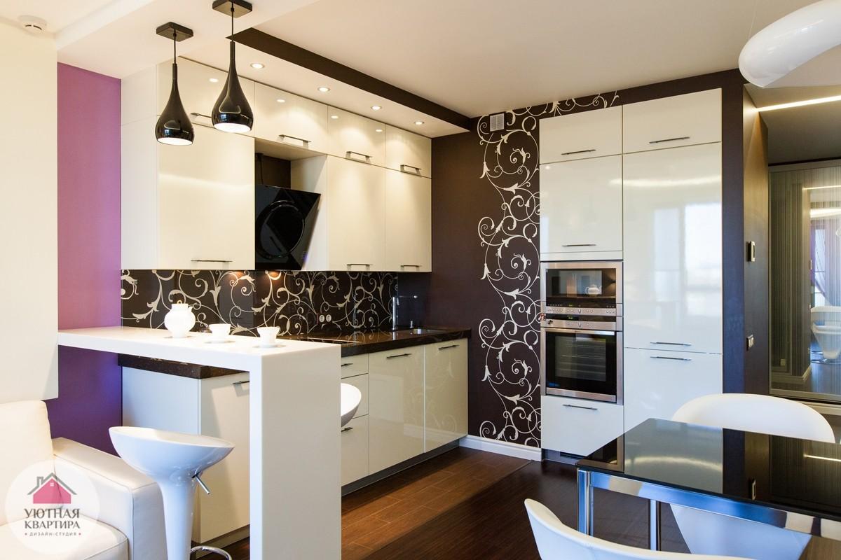 Дизайн кухни-гостиной 20 кв.м с фото