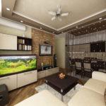 удобная и уютная кухня-гостиная
