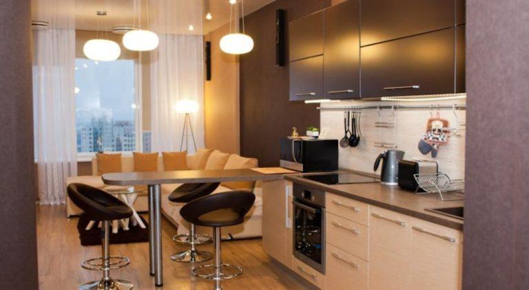 Фото кухня-гостиная 14 кв м дизайн