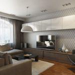 современный стиль в дизайне гостиной