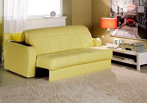 диван аккордеон в интерьере маленькой гостиной