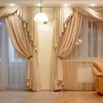 нежные оттенки штор для гостиной