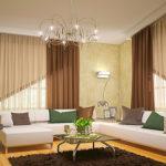 шторы для гостиной в классическом стиле