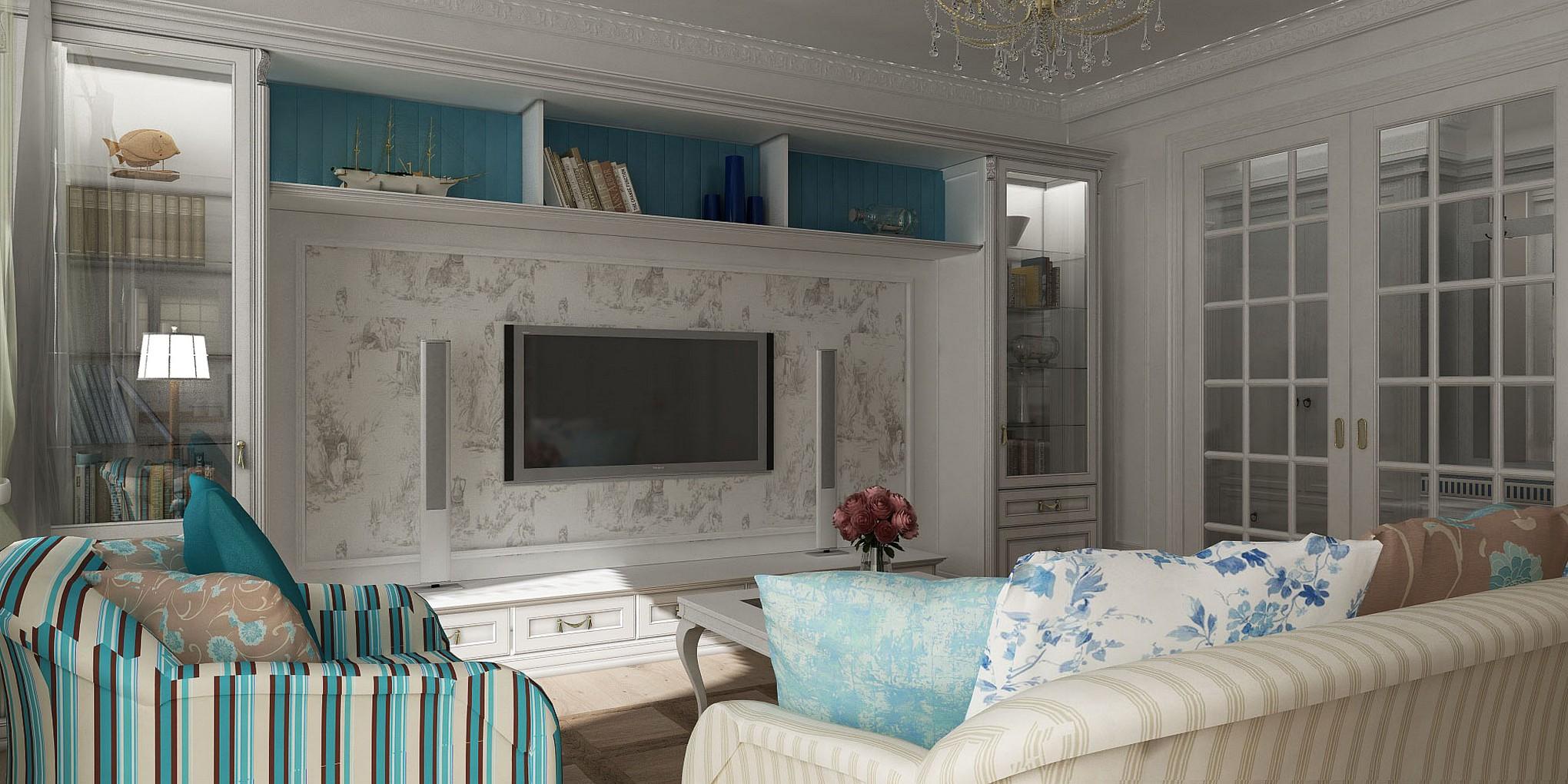 Гостиная в стиле прованс — фото красивых интерьеров