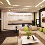 современность в дизайне гостиной комнаты