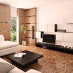 оформление гостиной в пастельный цвет
