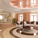 арка в интерьере гостиной