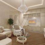 мебель светлых тонов в дизайне гостиной комнаты
