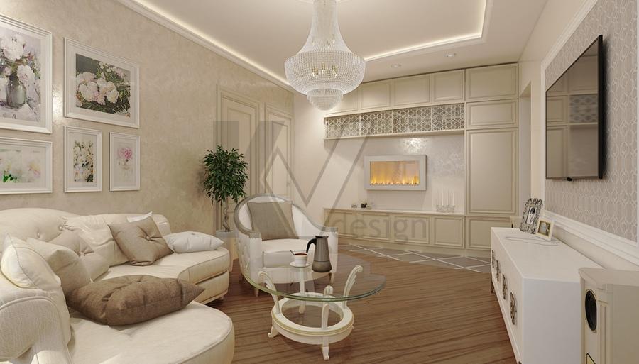 Дизайн трехкомнатной квартиры п-44т, перепланировка и декори.