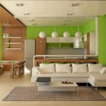 зонирование кухни-гостинной аксессуарами
