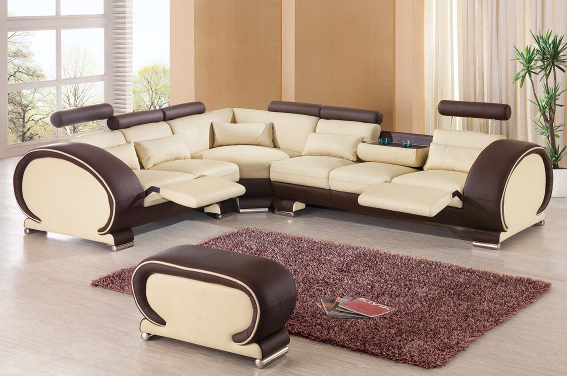 мягкая мебель в гостиную из экокожи