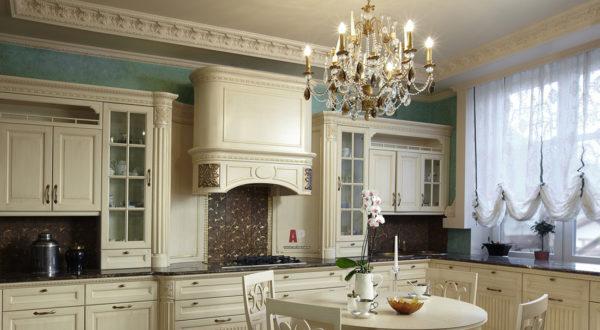 красивая отделка гостиной кухни
