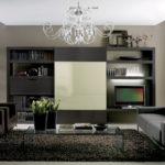 черная мебель в дизайне гостиной комнаты